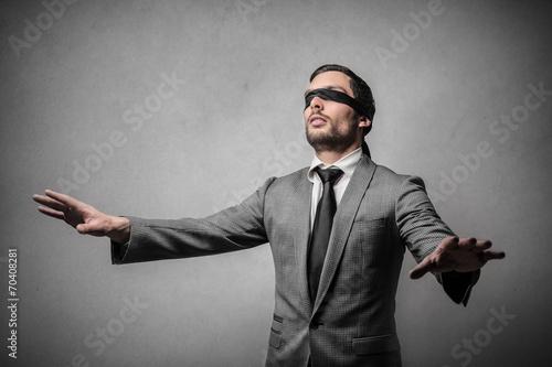 Valokuvatapetti blindman's bluff