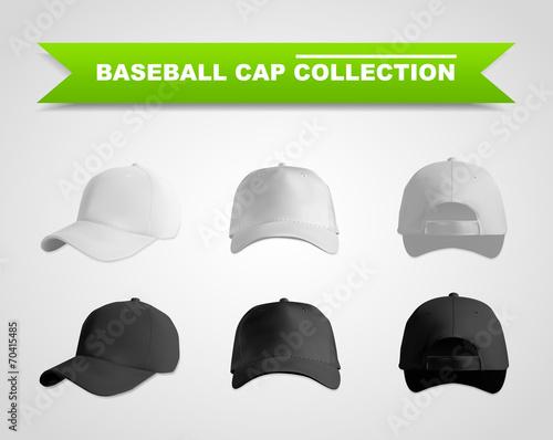 Valokuva  Baseball cap template set