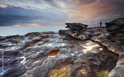 Canvas Prints Cappuccino Jubilation skies at South Curl Curl