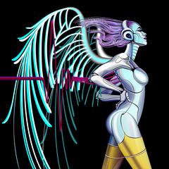 Fototapeta na wymiar Cyber Angel