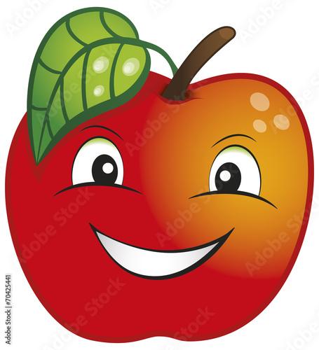 Fotografie, Tablou  Wesołe Owoce - Jabłko Czerwone