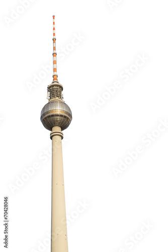 Keuken foto achterwand Berlijn Berliner Fernsehturm Freisteller 1
