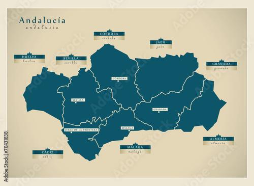 Modern map - Andalucía ES