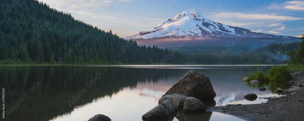 Fototapety, obrazy: Volcano mountain Mt. Hood, in Oregon, USA.