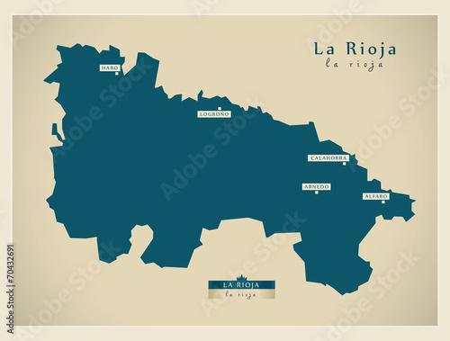Modern map - La Rioja ES