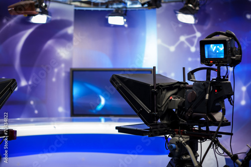 Fotografía  recording show in TV studio