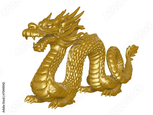 Photo  golden dragon