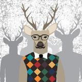 Fototapeta Młodzieżowe - Deer hipster