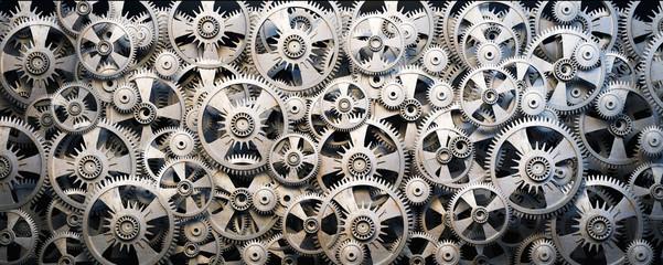 Panel Szklany Gears and cogwheels