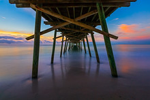 Bogue Inlet Pier At Daybreak