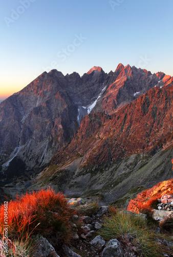 Deurstickers Landschappen Slovakia mountain autumn landscape