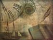 Leinwandbild Motiv History Collage