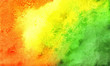 Red yellow green watercolor paper background
