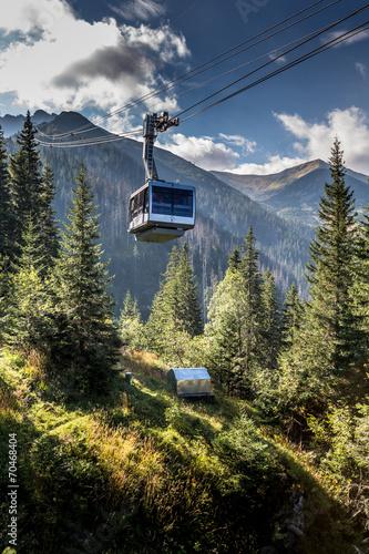 Cable car in Kasprowy Wierch peak in Tatra mountains, Poland.