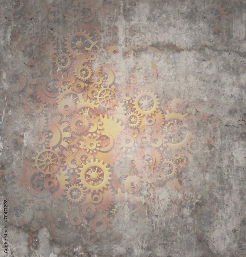 Steampunk Grunge Background