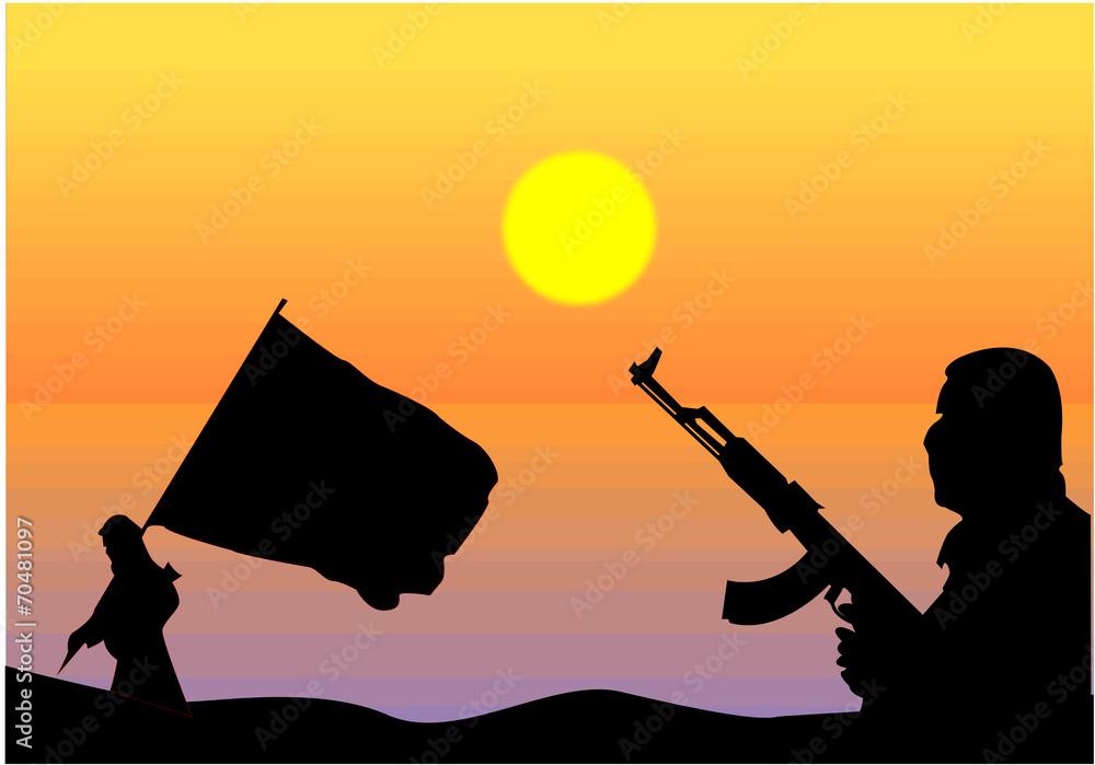 Fototapeta Terrorismo islamico
