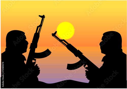 Cuadros en Lienzo Terrorismo islamico