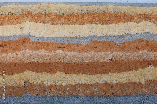Photo  The striations, natural earthtone colors, and textures of a ramm