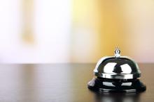 Reception Bell On Desk, On Bri...