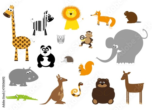 wild animals set- vectors for children