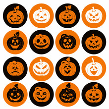 Halloween Icon Set Of Cheerful...