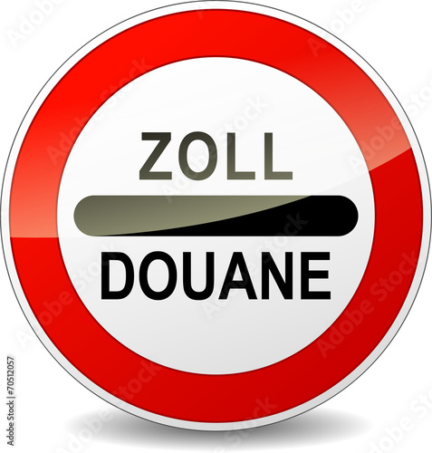 Fotografie, Obraz  Vector zoll customs sign