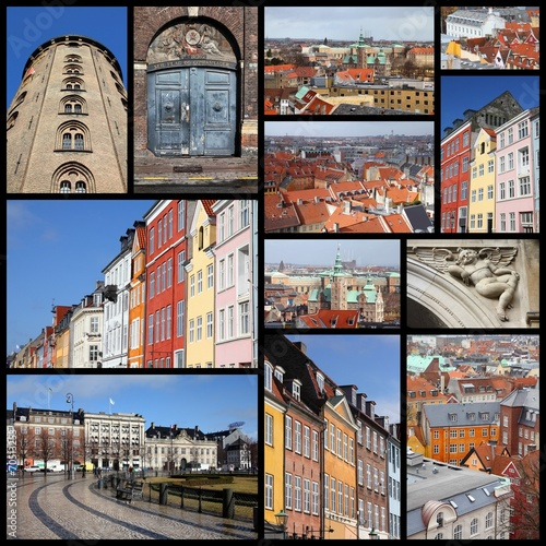 Photo  Copenhagen, Denmark - travel photo collage