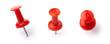 Leinwandbild Motiv Red pins