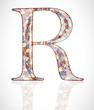 Abstract letter R. Illustration 10 version