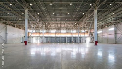 Staande foto Industrial geb. A big storage room