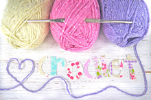 Crochet Word With Wool And Hook