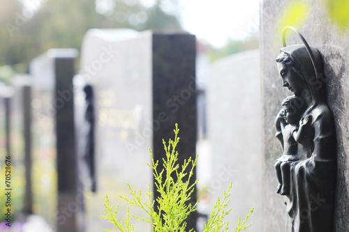 Printed kitchen splashbacks Cemetery Gräbsteine in einer Reihe