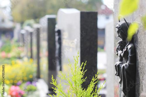 Printed kitchen splashbacks Cemetery Gräber Reihe Ansicht