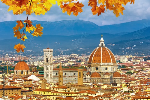 Aluminium Prints Florence Duomo cathedral in Florence