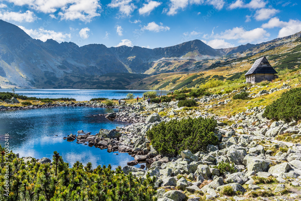 Fototapety, obrazy: Mountain lake in 5 lakes valley in Tatra Mountains, Poland.
