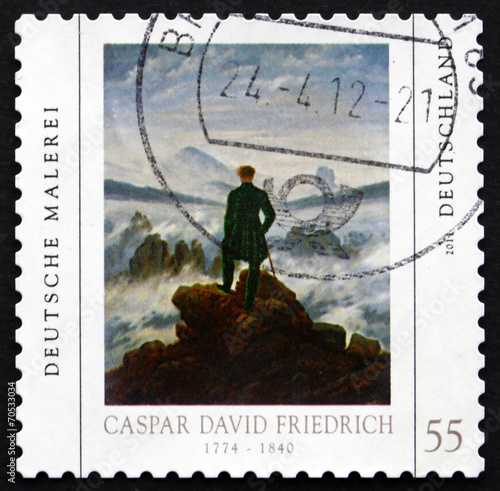 Postage stamp Germany 2011 Painting by Caspar David Friedrich Fototapete
