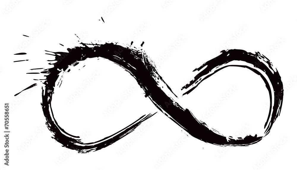 Fototapeta Gunge infinity symbol