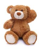 Fototapeta Zwierzęta - Sweet teddy bear waving his paw