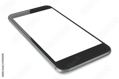 Foto  Space Grey smartPhone mit leerem Bildschirm
