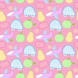 Children's seamless background