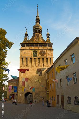 Fotografie, Obraz  Sighisoara bell clock tower
