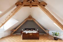 Schlafzimmer Im Offenen Dachgeschoss