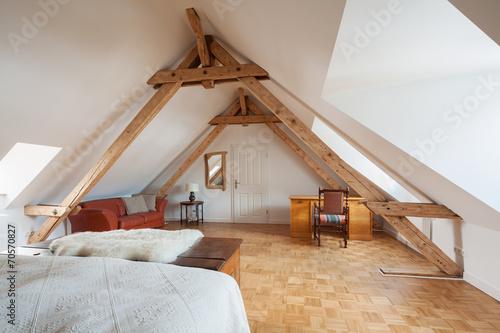 Photo wohnen unter dem dach