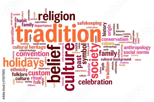 Tradition - word cloud illustration - Buy this stock