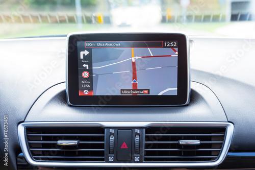 Fotografia  Navigation device in the car