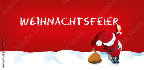 Weihnachtsfeier Cartoon.Weihnachtsmann Schreibt Weihnachtsfeier Buy This Stock Vector And