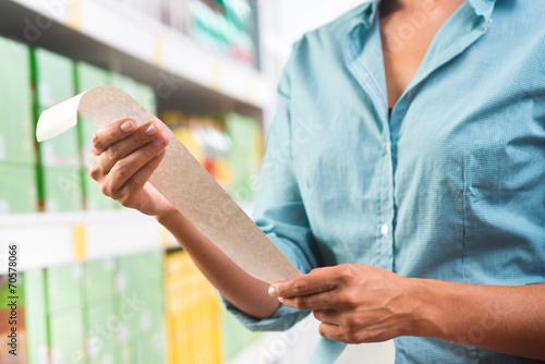 Fototapety, obrazy: Grocery receipt