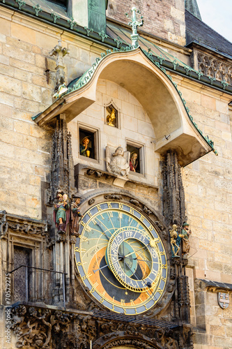 Foto op Aluminium Praag Astronomical clock on old town hall in Prague