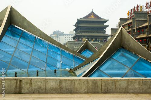 Foto op Plexiglas Xian Fountain in the center square of Xian