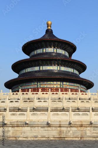 In de dag China Der Himmelspalast in Peking China